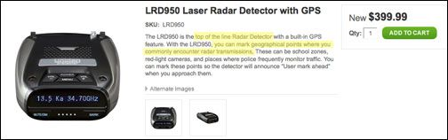 Uniden LRD-950 radar detector review